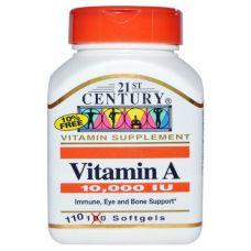Витамин  A, 10000 МЕ, 110 капсул
