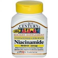 Витамин В3 (Ниацинамид) 500 мг, 110 таблеток