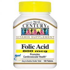 Фолиевая кислота, 800 мг, 180 таблеток
