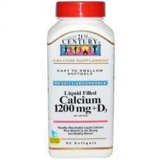 Кальций, 1200 мг + витамин D3, 90 капсул
