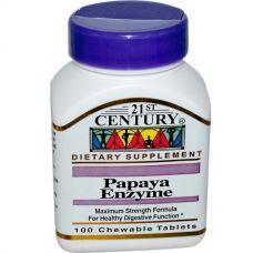 Папаин, ферменты папайи (Papaya Enzyme), 100 таблеток