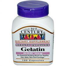 Желатин (Гидролизат желатина), 600 мг, 100 капсул