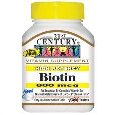Биотин, 800 мкг, 110 таблеток