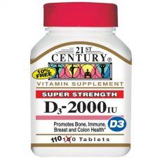 Витамин D3, 2000 МЕ, 110 таблеток