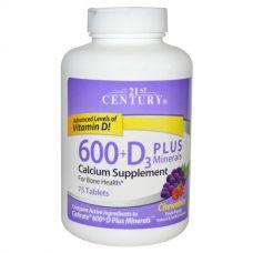 Жевательный кальций + D3, 75 таблеток
