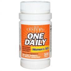 Мультивитамины и мультиминералы для женщин 50+, One Daily 100 таблеток