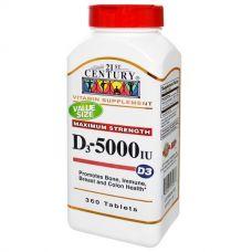 Витамин D3, 5000 МЕ, 360 таблеток