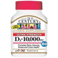 Витамин D3, 10000 МЕ, 110 таблеток