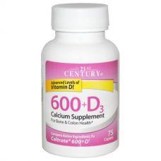 Кальций для костей (600 + D3, добавка с кальцием), 75 таблеток
