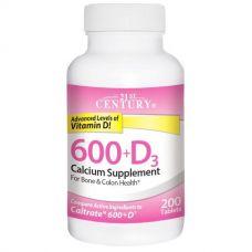 Кальций Д3, 600+D3 (кальциевая добавка), 200 таблеток
