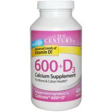Кальций Д3, 600 (D3),  400 таблеток