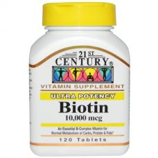 Биотин, 10000 мкг, 120 таблеток
