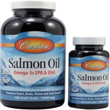 Рыбий жир лосося, 1000 мг, 180 + 50 капсул