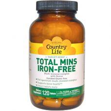 Total Mins без железа, мультиминералы с бором, 120 таблеток