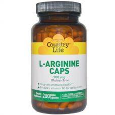 L-аргинин, 500 мг, 200 капсул