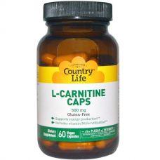 L-карнитин, 500 мг, 60 капсул