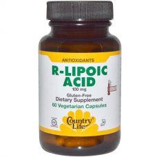 R-липоевая кислота, 100 мг, 60 капсул