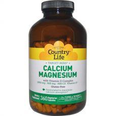 Кальций и магний, с комплексом витамина D, 360 капсул