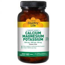 Кальций, магний и калий, 180 таблеток