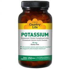 Калий, Potassium, 99 мг, 250 капсул