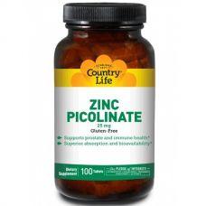 Пиколинат цинка, 25 мг, 100 таблеток