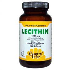 Лецитин (Lecithin), 1200 мг, 100 капсул