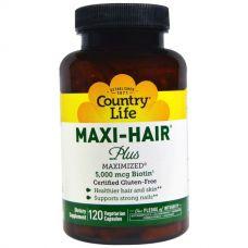 Витамины для волос Maxi Hair Plus, 120 таблеток