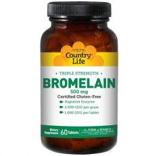 Бромелайн, тройная сила, 500 мг, 60 таблеток
