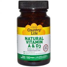 Витамины A и D3, 10000 МЕ/400 МЕ, 100 капсул