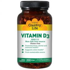 Витамин D3, 5000 МЕ, 200 капсул