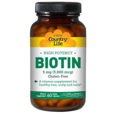 Биотин, 5 мг, 60 капсул