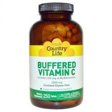 Буферизированный витамин С, Buffered Vitamin C, 1000 мг, 250 таблеток