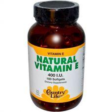 Витамин Е, 400 МЕ, 180 капсул
