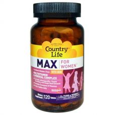Мультивитамины для женщин с железом, 120 таблеток