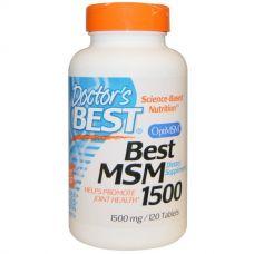 Метилсульфонилметан, МСМ (MSM), 1500 мг, 120 таблеток