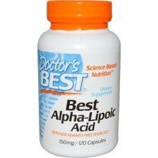 Альфа-липоевая кислота, 150 мг, 120 капсул от Doctor's Best