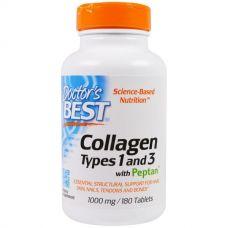 Коллаген, тип 1 и 3, 1000 мг, 180 таблеток