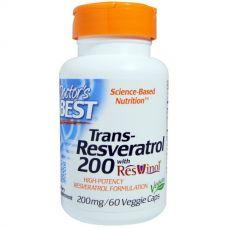 Ресвератрол (Resveratrol), 200 мг, 60 капсул