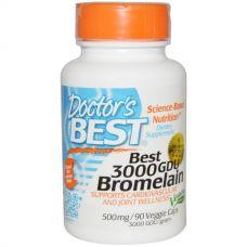 Бромелайн, 500 мг, 90 капсул