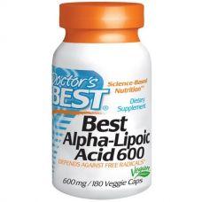 Альфа-липоевая кислота, 600 мг, 180 капсул