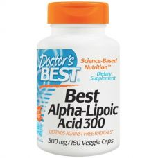 Альфа-липоевая кислота, 300 мг, 180 капсул