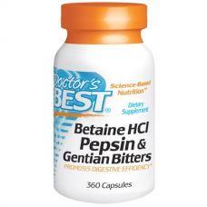 Настойка бетаина гидрохлорид, пепсин и генциана, 360 капсул