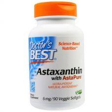 Астаксантин (Astaxanthin), 6 мг, 90 таблеток