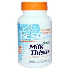 Расторопша Euromed Milk Thistle, 50 мг, 120 растительных капсул