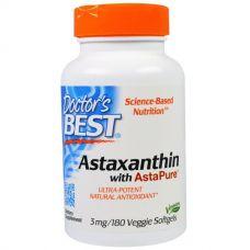 Астаксантин (Astaxanthin) с AstaPure, 3 мг, 180 таблеток