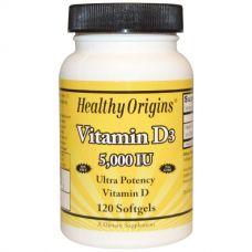 Витамин D3, 5000 МЕ, 120 капсул