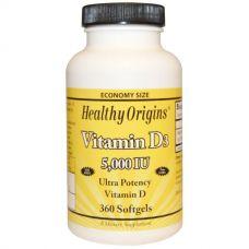 Витамин D3, 5000 МЕ, 360 капсул