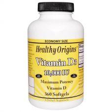 Витамин D3, 10000 МЕ, 360 капсул