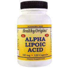 Альфа-липоевая кислота, 100 мг, 120 капсул