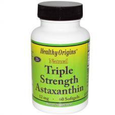 Астаксантин тройного действия, 12 мг, 60 капсул